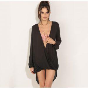 vestido negro chiffon