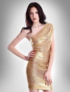 vestido-bandage-oro-de-un-hombro-2