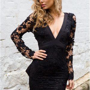 vestido-encaje-lazo-negro